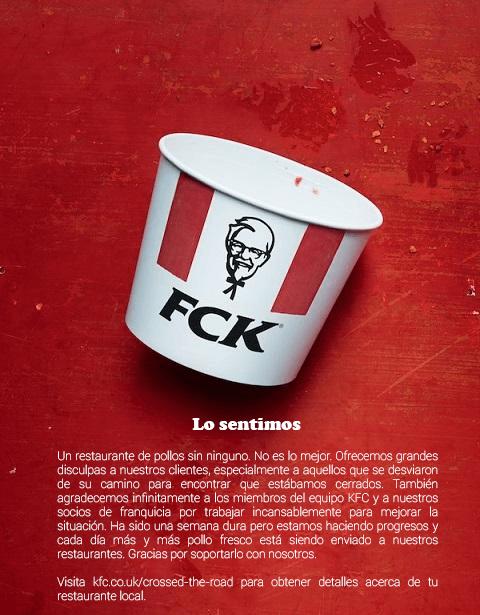 anuncio publicado por KFC