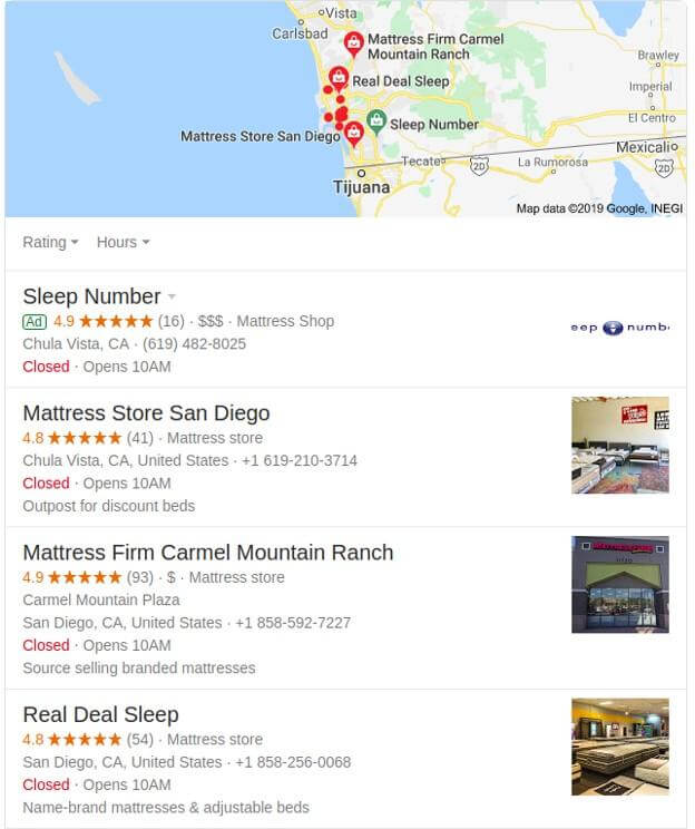 Empresas en Google Maps