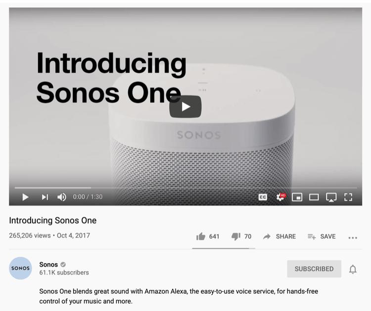 altavoz de Sonos