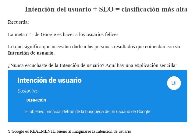 Optimización para la intención de búsqueda