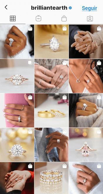 Feed de Instagram minimalista