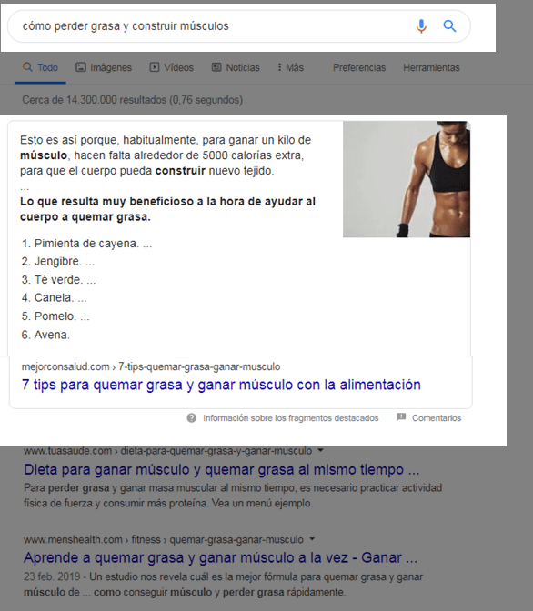 Ejemplo búsqueda informativa