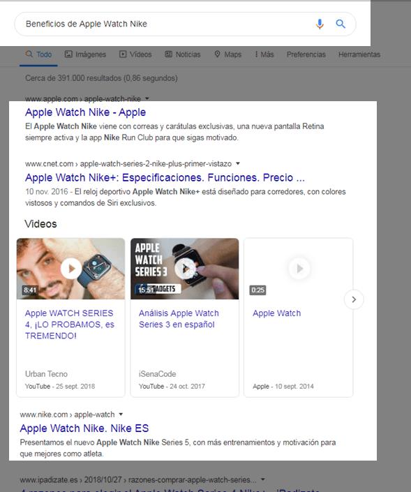 Ejemplo búsqueda comercial