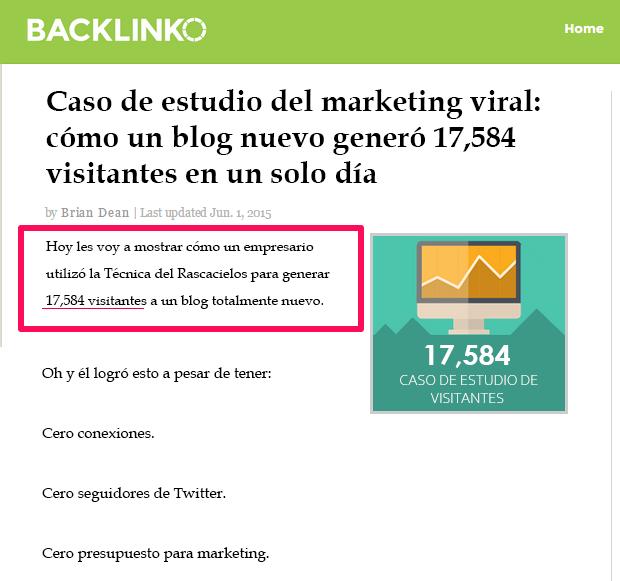 Introducción en publicación de Backlinko