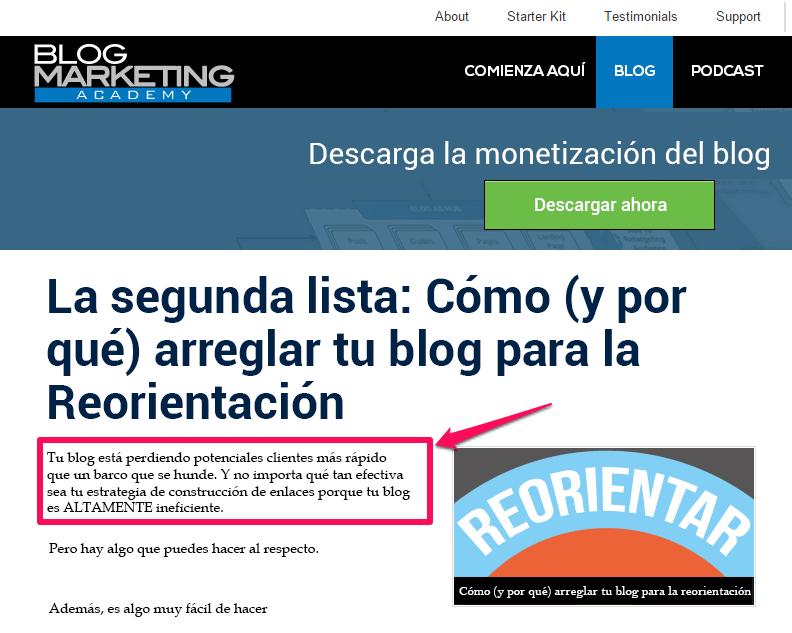 Introducción en Blogmarketingacademy.com