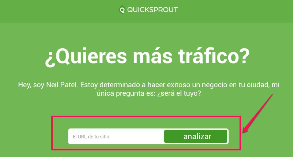 Llamado a la acción de Quicksprout