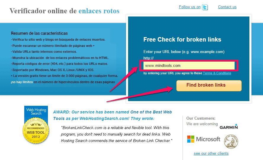 verificador de enlaces rotos