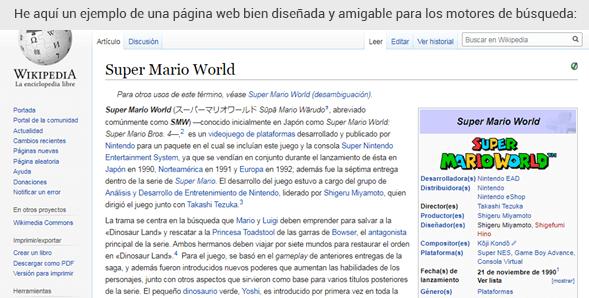 SEO On-Page de Wikipedia
