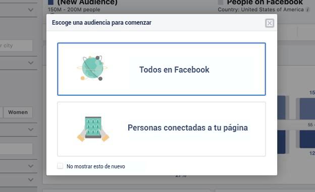 Pop-up de Facebook