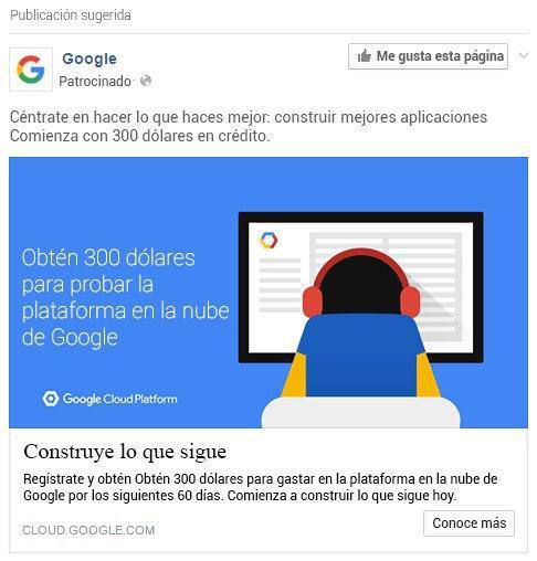"""Anuncio """"Construye lo que sigue"""" de Google"""