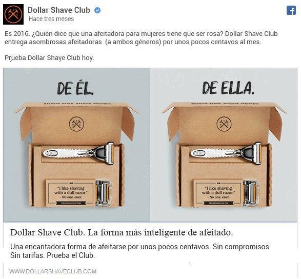 Anuncio de Dollar Shave Club