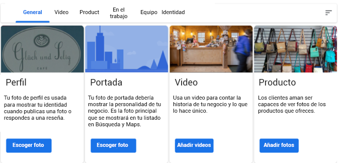 Fotos en Google My Business