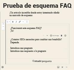 Prueba de esquema FAQ