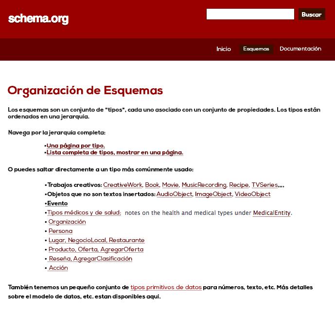 Página de schema.org
