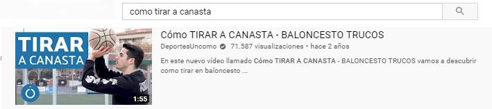 Ejemplo de buen título de video