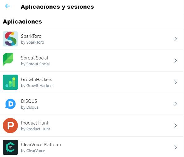 Aplicaciones de Twitter