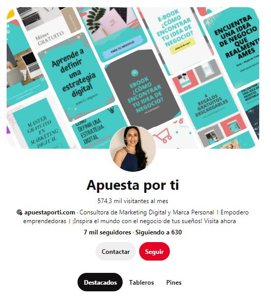 Perfil en Pinterest