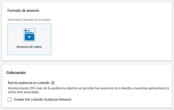 Habilitar la Red de Audiencia de LinkedIn