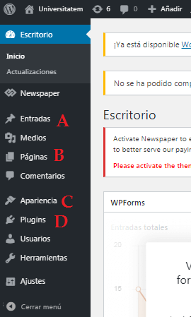Menú de WordPress