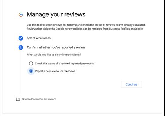 Informar una reseña