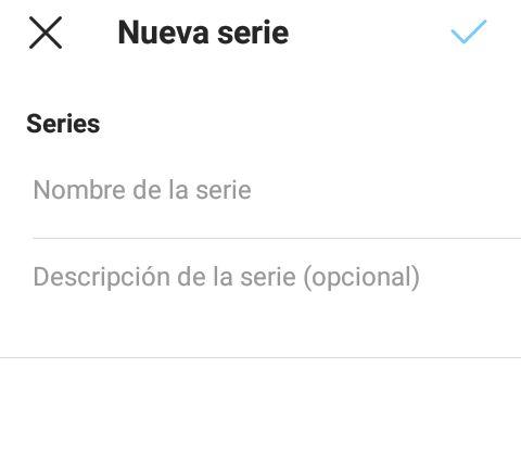 Nueva serie
