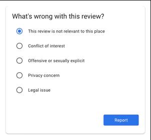 Esta reseña no es relevante para el lugar