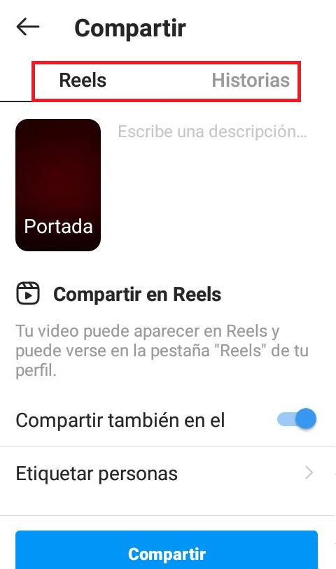Compartir el Reels