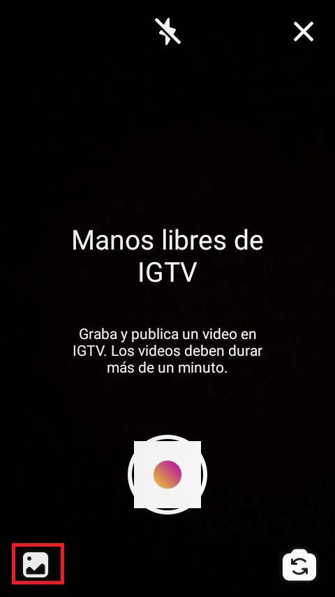 Grabación de videos para la IGTV